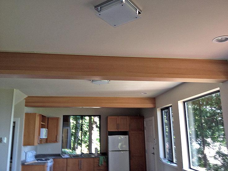 fir covered beam