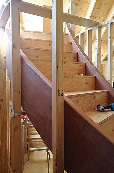 curved stair process