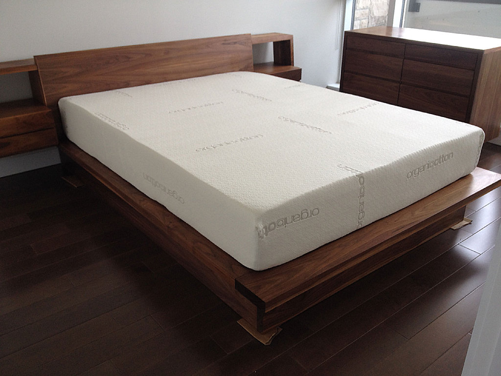 walnut platform bed